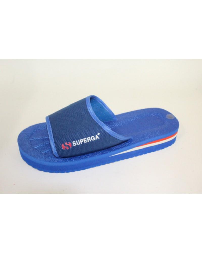 Ciabatte superga da piscina a fascia blu cobalto - Ciabatte da piscina ...