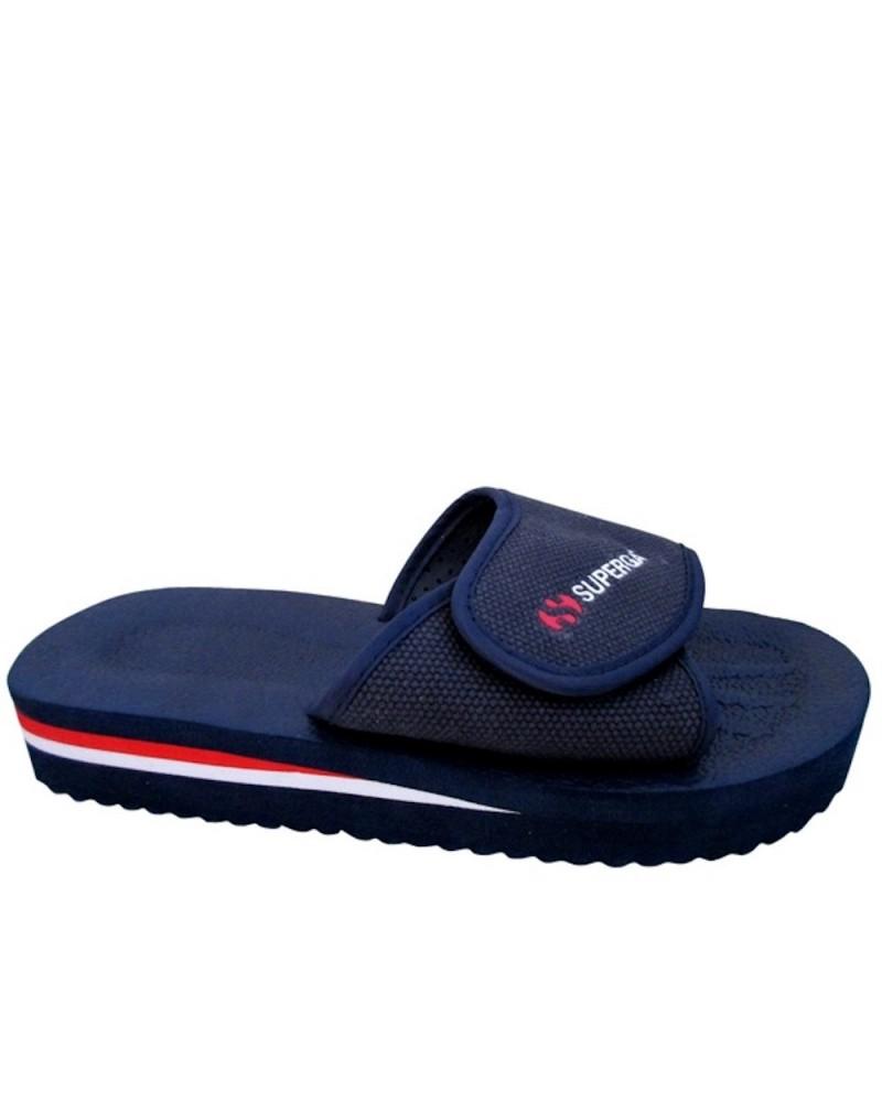 super popular 3a8a9 9dbd8 Ciabatte Superga da piscina in gomma blu con strappo