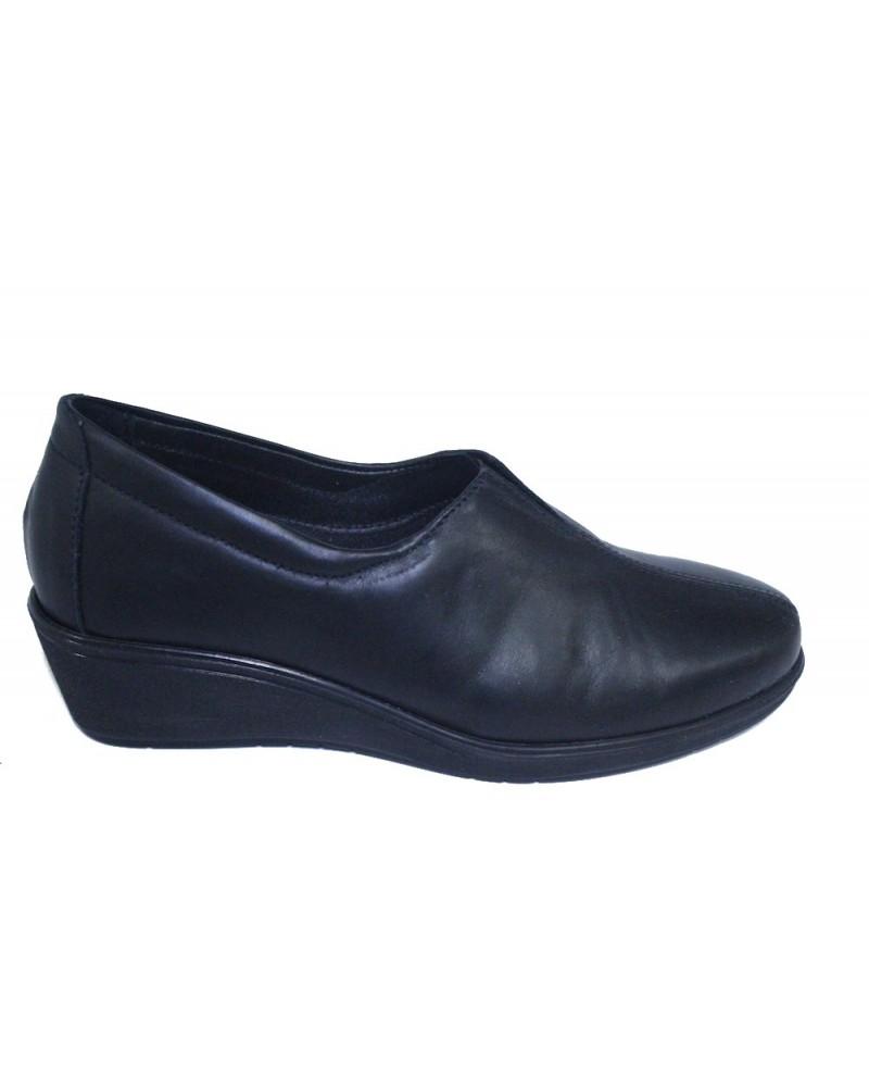 separation shoes b196b 0d478 Scarpe Susimoda in pelle nera e sottopiede estraibile