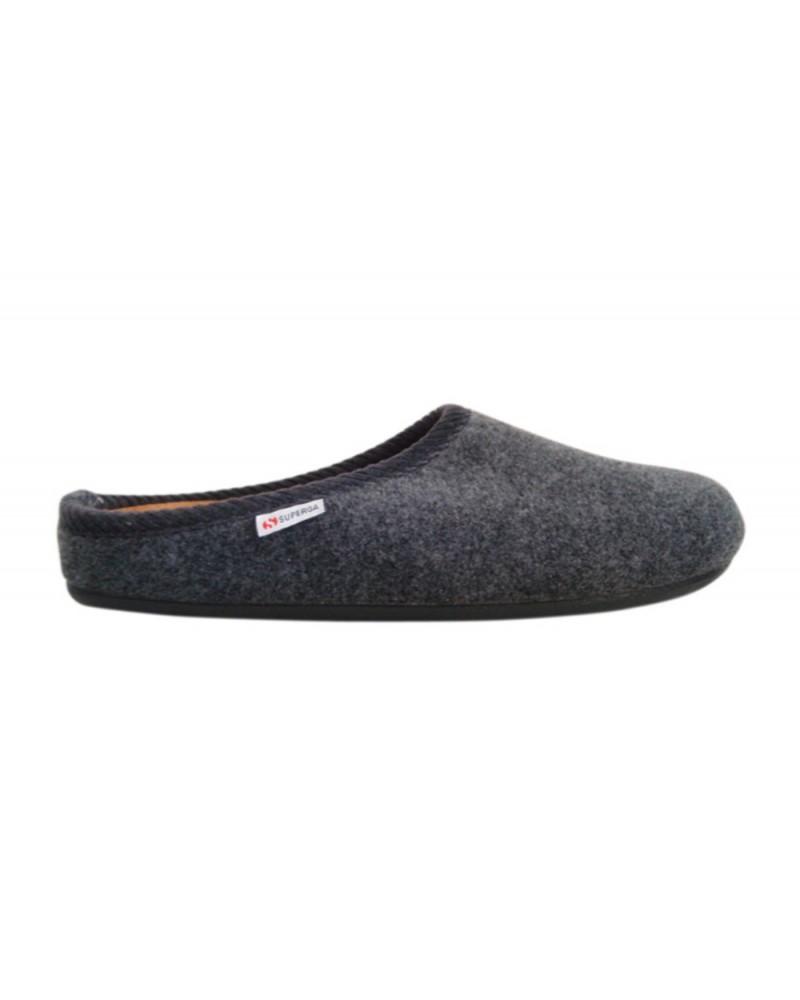 vendite all'ingrosso metà fuori super qualità Ciabatta Superga in tessuto di lana cotta grigia
